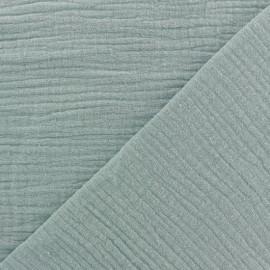 Tissu double gaze de coton MPM - opaline x 10cm