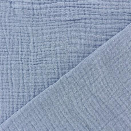 Tissu double gaze de coton MPM - embruns x 10cm