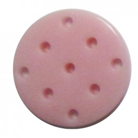 Cross-stitch button - pink