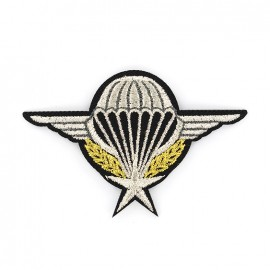 Army Embroidered iron-on patch - parachutist