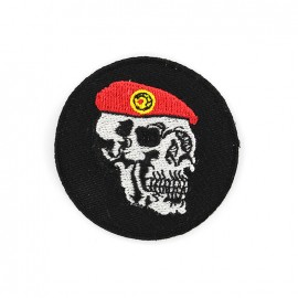 Army Embroidered iron-on patch - skull