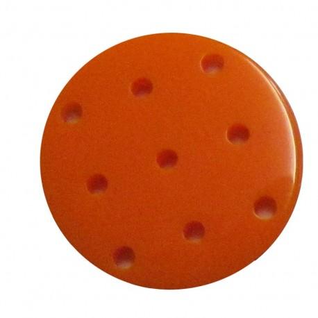 Bouton point de croix orange