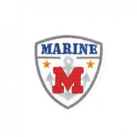 Marine iron on patch - white