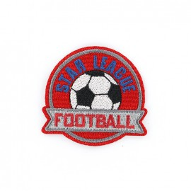 Biker Embroidered iron-on patch - football