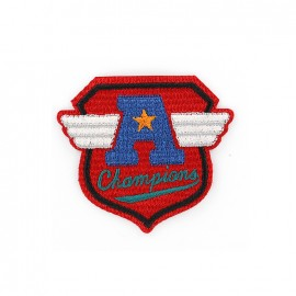 Biker Embroidered iron-on patch - champions