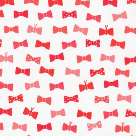 Cotton fabric London calling 7 Bow Tie -  Red x 10cm