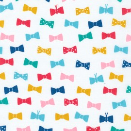 Cotton fabric London calling 7 Bow Tie - Multi x 10cm