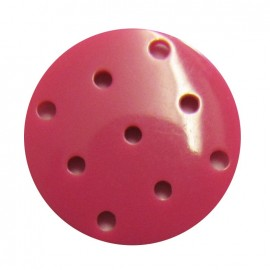 Bouton point de croix fuchsia
