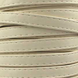 Leatherette strap - crème x 1m