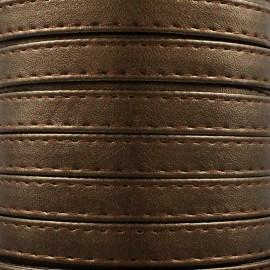 Leatherette strap - shiny chestnut x 1m
