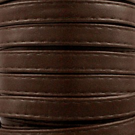 Leatherette strap - brown x 1m