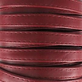 Sangle Simili cuir - carmin x 1m
