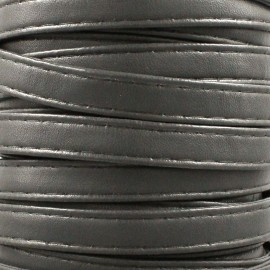 Leatherette strap - slate-grey x 1m