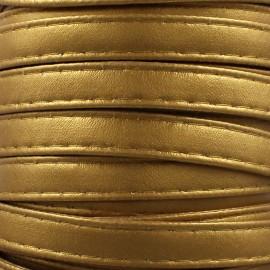 Leatherette strap - gold x 1m