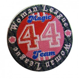 Badge Magic Team 44 iron-on applique - red