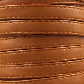 Leatherette strap - pumpkin x 1m