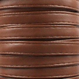Leatherette strap - caramel x 1m
