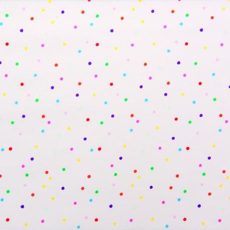Tissu jersey Rico Design Confetti - multicolore x 10cm
