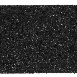Glittery ribbon 5mm - black x 1m