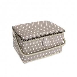 Boîte à couture Etoiles - taupe