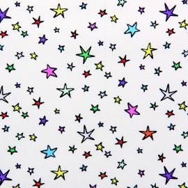 Tissu coton Rico Design White stars - multicolore x 10cm