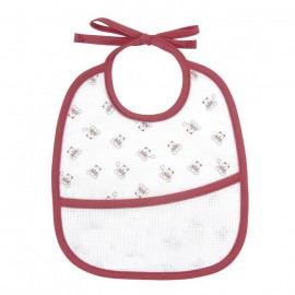 Teddydou 3 months bib to embroider - white