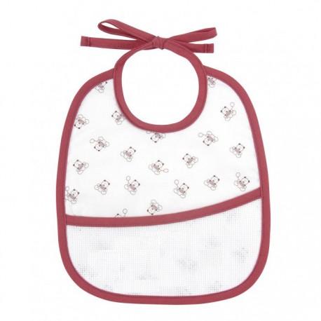 Teddydou 3 months bib to embroider - white