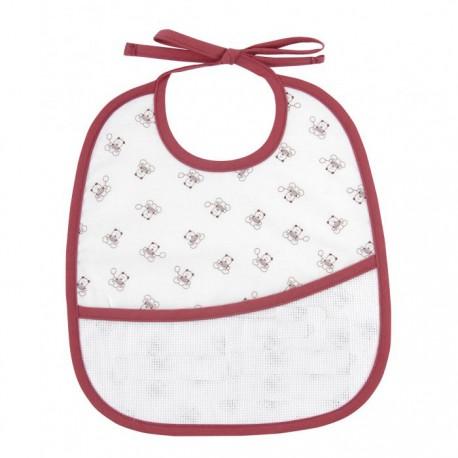 Teddydou 6 months bib to embroider - white