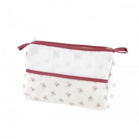 Teddydou toiletry pouch to embroider - white