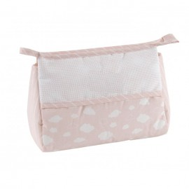 Joli nuage toiletry pouch to embroider - pink