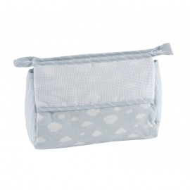 Joli nuage toiletry pouch to embroider - blue