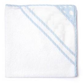 Sortie de bain à broder Joli nuage - bleu