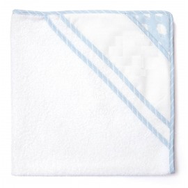 Joli nuage bathwrap to embroider - blue