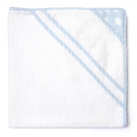 Joli nuage bathwrap to embroider - blue