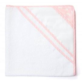 Sortie de bain à broder Joli nuage - rose