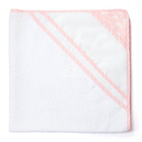 Joli nuage bathwrap to embroider - pink
