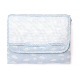 Joli nuage changing mat to embroider - blue