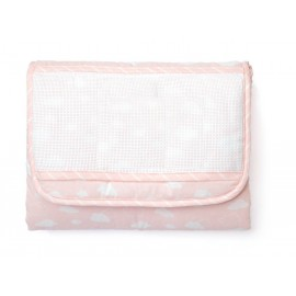 Joli nuage changing mat to embroider - pink