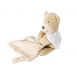 Cuddly toy with dummy holder to embroider - bear