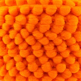 Galon mini pompon Color - orange fluo x 1m