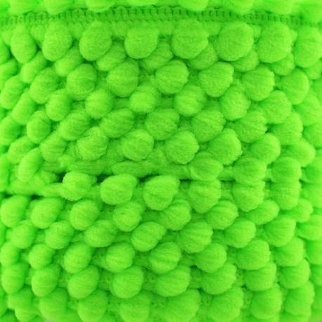 Mini pompom braid trimming Color - neon green x 1m