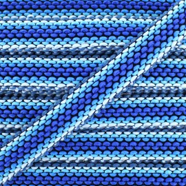 Braided ribbon Solal - blue x 1m