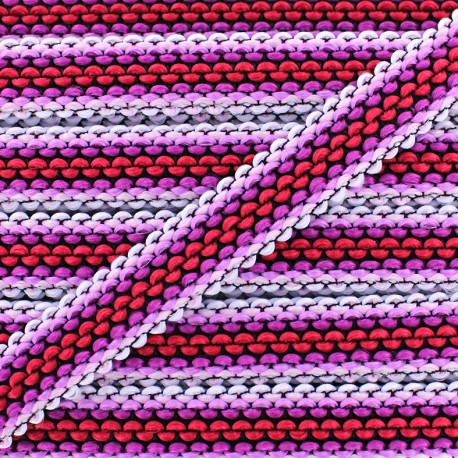 Braided ribbon Solal - pink x 1m