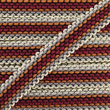 Braided ribbon Solal - brown x 1m