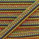 Braided ribbon Solal - multi red x 1m