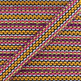 Galon tissé Solal - multi violet x 1m