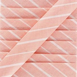 Biais DMC Petites rayures 20 mm - rose x 1m