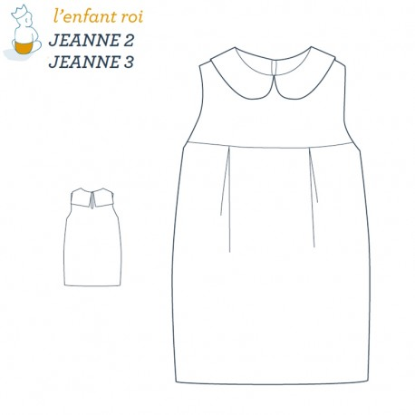 Jeanne dress L'Enfant Roi sewing pattern - From 2 to 12 years old