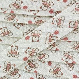 Teddydou DMC linen bias 20 mm - bear x 1m
