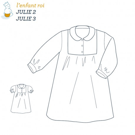 Julie Nightdress L'Enfant Roi sewing pattern - From 2 to 12 years old